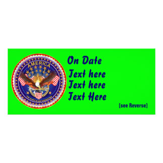 Card Rack Horz. America Not Forgotten See Notes Personalised Rack Card