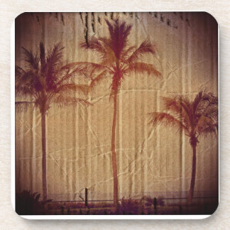 Cardboard Palm Trees Coaster Set