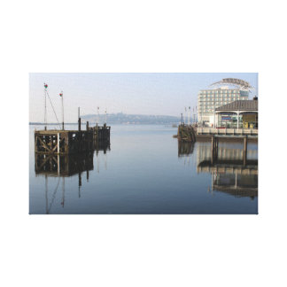 Cardiff Bay Reflections Canvas Print