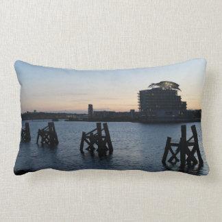 Cardiff Bay Sunset Lumbar Pillow