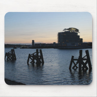 Cardiff Bay Sunset Mouse Pad