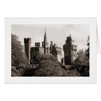 Cardiff Castle II - Sepia (Wide Border) Card