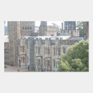 Cardiff Castle Rectangular Sticker