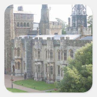 Cardiff Castle Square Sticker