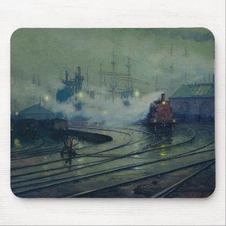 Cardiff Docks, 1896 Mouse Pad