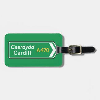 Cardiff, UK Road Sign Luggage Tag