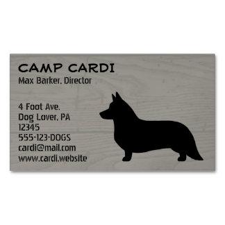 Cardigan Welsh Corgi Silhouette Magnetic Business Card