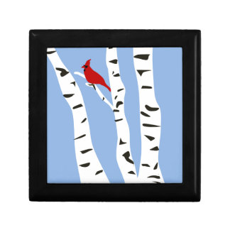 Cardinal and Winter Birch Gift Box
