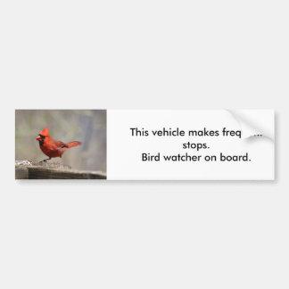 Cardinal Bird Watcher bumper sticker