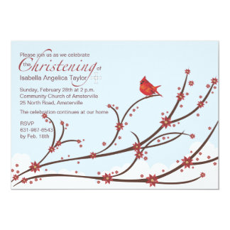 Cardinal on a Branch Religious Invitation