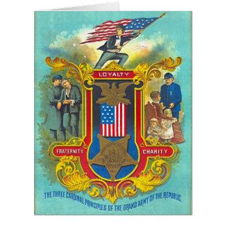 Cardinal Principles 1884 Card