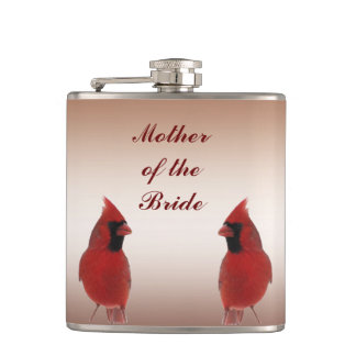 Cardinal Wedding Mother of the Bride Hip Flask