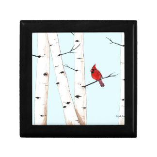 Cardinal with Birch Trees Gift Box