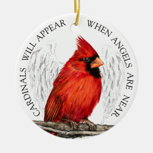 7cfab5f2 Cardinals Appear When Angels Are Near Customized Christmas Ornament
