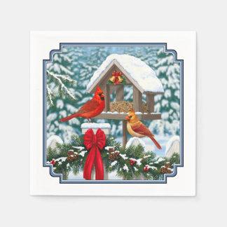 Cardinals Christmas Feast Disposable Serviette