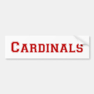 Cardinals square logo in red bumper sticker