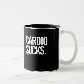 Cardio Sucks -   - Gym Humor -.png Two-Tone Coffee Mug
