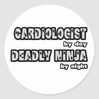 Cardiologist By Day...Deadly Ninja By Night Sticker