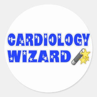 Cardiology Wizard Round Sticker