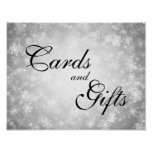 Cards & Gifts Wedding Winter Wonderland Silver Poster