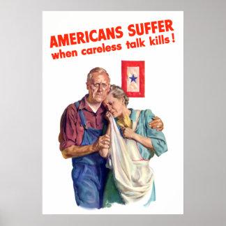 Careless Talk Kills -- Border Poster