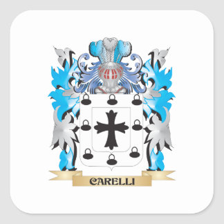 Carelli Coat of Arms - Family Crest Square Sticker