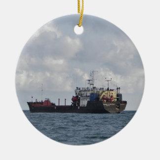 Cargo Ship Mikhail Kuznetsov Christmas Ornament