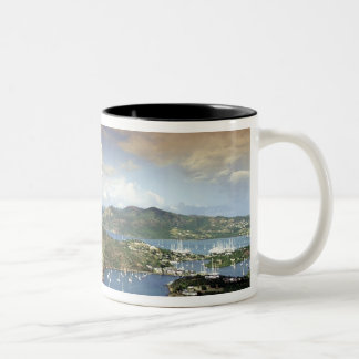 Caribbean, Antigua. Two-Tone Coffee Mug