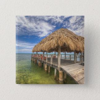 Caribbean Dock 15 Cm Square Badge