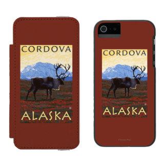 Caribou Scene - Cordova, Alaska Incipio Watson™ iPhone 5 Wallet Case