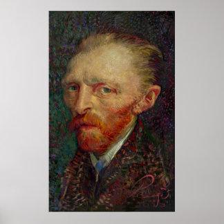 Caricature Vincent van Gogh - Self-portrait - 1887 Poster