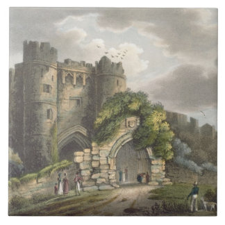 Carisbrook Castle, from 'The Isle of Wight Illustr Tile
