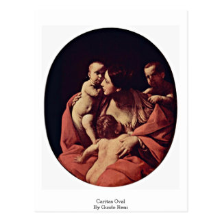 Caritas Oval By Guido Reni Postcard