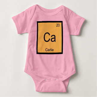 Carlie Name Chemistry Element Periodic Table Baby Bodysuit
