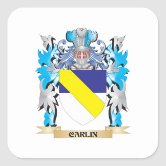 Carlin Coat of Arms - Family Crest Square Sticker