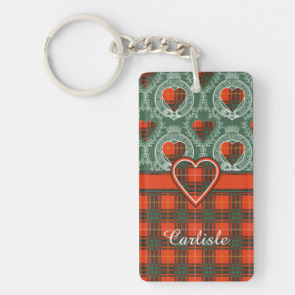 Carlisle clan Plaid Scottish kilt tartan Key Ring