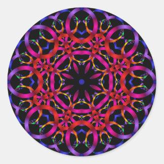 Carlo and Julia Purple Classic Round Sticker