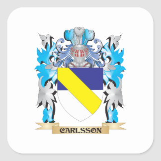 Carlsson Coat of Arms - Family Crest Square Stickers