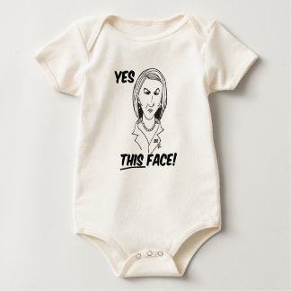 Carly Fiorina Yes This Face Baby Bodysuit