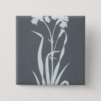 Carnation 15 Cm Square Badge