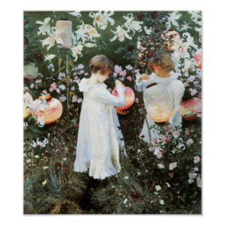 Carnation Lily Lily Rose by John Sargent Print
