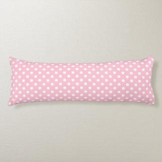 Carnation Pink Polka Dot Pattern Body Cushion