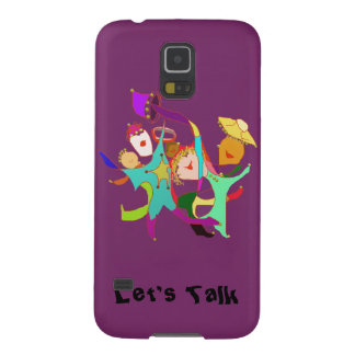 Carnival Dancers on Purple Case For Galaxy S5