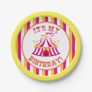 Carnival Tent Birthday Plates