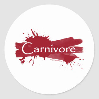 carnivore blood splatter classic round sticker