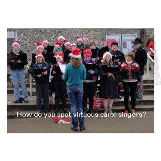 Carol singers card