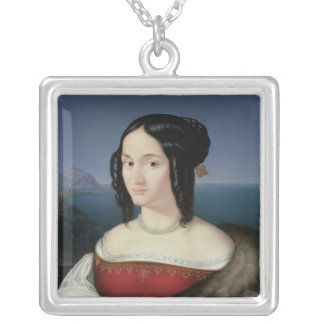 Carolina Grossi, the first Wife of the Artist Silver Plated Necklace