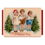 Caroling Kids Christmas Party Invitation