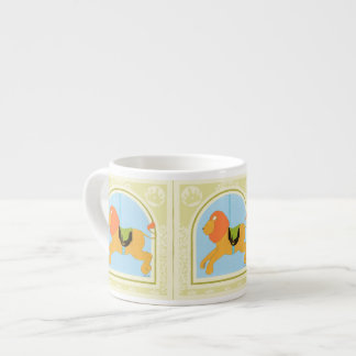 Carousel Lion by June Erica Vess Espresso Cup