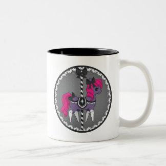 Carousel Pony – Gothic Lolita Two-Tone Coffee Mug
